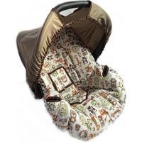 Capa Para Bebê Conforto 0 A 13 Kg Safari Alan Pierre Baby Laranja