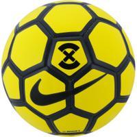 Bola De Futsal Nike Footballx Menor - Amarelo Cinza Esc 0309bb4d894ba