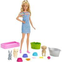 Boneca Barbie - Barbie Banho Dos Cachorrinhos - Mattel Fxh11