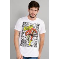 Camiseta Bandup! The Flash Justice - Masculino-Branco