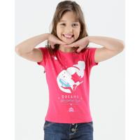 Blusa Infantil Manga Curta Cinderela Disney