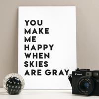 Placa Decorativa - Make Me Happy