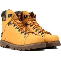Bota Couro Coturno West Coast Worker Masculina - Masculino-Amarelo Claro