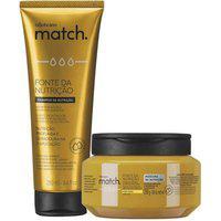Combo Match Fonte Da Nutrição Fios Finos: Shampoo + Máscara Capilar