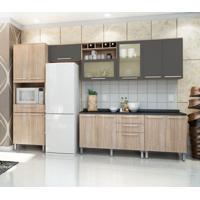 Cozinha Compacta Cheff Master Ii 13 Pt 4 Gv Carvalho E Grafite