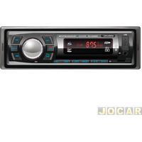 Auto Rádio Mp3 Player - Roadstar - Fm/Sd/Usb/Bluetooth - Com Controle Remoto - Cada (Unidade) - Rs-2606Br