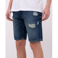 Bermuda Jeans Slim Destrayed