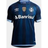 Netshoes  Camisa Umbro Grêmio Iii 17 18 S Nº - Torcedor - Patch Campeão  Libertadores d9ef50d003cdd