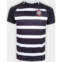 Camisa Corinthians 2015 S/N° Masculina - Masculino-Preto+Branco