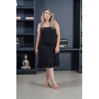 Vestido Curto Jade Black Plus Size