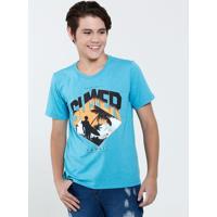 Camiseta Juvenil Estampa Praia Marisa