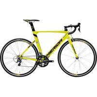 Bicicleta Speed Merida Reato 300 - Aro 700 - Freio V-Brake - Câmbio Shimano - 20 Marchas - Amarelo/Preto