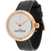 Marc Jacobs Watches Slogan Face Round Watch - Preto