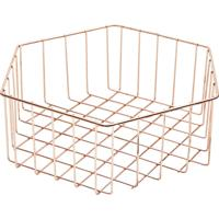 Cesta Ferro Copper Wire Exagon Cobre 29X25.5X10Cm Urban