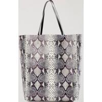 Shopping Bag Snake Double Face Off White - U