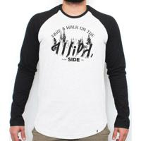 El Cabriton  Take A Walk On The Wild Side - Camiseta Raglan Manga Longa  Masculina 4cd94316831