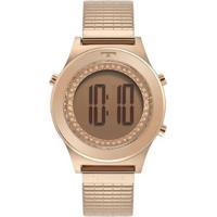 Relógio Technos Digital Bj3927Ab/1T Feminino - Feminino-Rose Gold