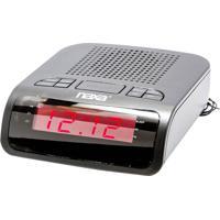 Rádio Relógio Naxa 0,5W Nrc-174 Preto
