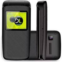 Celular Dl Yc330 Flip Dual Chip Desbloqueado Preto