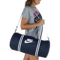 Mala Nike Heritage Duff - Feminina - 30 Litros - Azul Esc/Branco