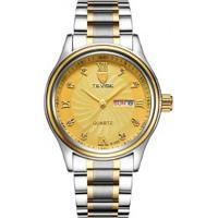 Relógio Tevise 8122Q Masculino Pulseira Aço - Dourado