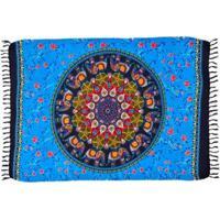 Canga Shopping Bali Mandala Sun - Feminino-Azul
