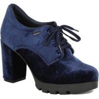 Sapato De Salto Oxford Feminino Azul Marinho - Feminino