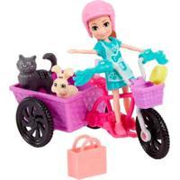 Polly Pocket Bicicleta Aventura Com Bichinho - Mattel - Kanui