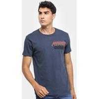 Camiseta Calvin Klein Slim Estampada Masculina - Masculino-Marinho