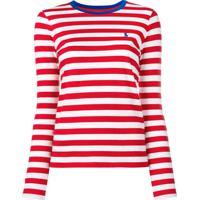 Farfetch  Polo Ralph Lauren Camiseta Listrada Mangas Longas - Vermelho 195fe6c117f
