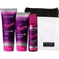 Kit Lowell Liso Mágico Shampoo 240Ml + Condicionador 200Ml + Fluido Termoativado 200Ml - Feminino-Incolor