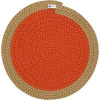 Jogo Americano Orbis Uniborder Orange 1 6 Pecas - 36X36
