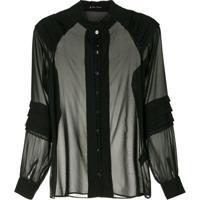 Lethicia Bronstein Camisa De Seda Rendinhas - Preto