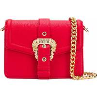 Versace Jeans Couture Bolsa Tiracolo Com Logo Na Fivela - Vermelho