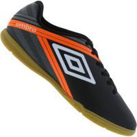 Chuteira Futsal Umbro Drako Ic - Adulto - Preto/Cinza
