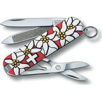"Canivete Classic ""Edelweiss""- Inox & Branco- 5,8Cm"