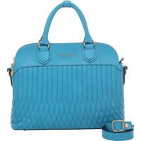 Bolsa Couro De Mão Turquesa Smartbag - 77077