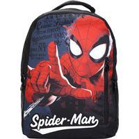 Mochila Infantil Xeryus Disney Spider Man - Masculino-Preto+Vermelho