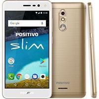 Smartphone Desbloqueado S510 Slim, Positivo, S510 Slim, 8 Gb, 5.0'', Dourado