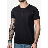 Camiseta Hermoso Compadre Henley Masculina - Masculino-Preto