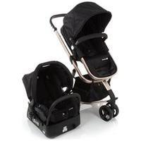 Carrinho Com Bebê Conforto Mobi Travel System Preto E Rose - Safety 1St