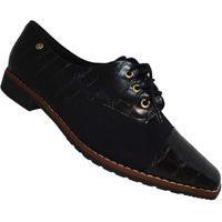 Sapato Oxford Piccadilly Salto Baixo Preto