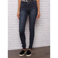 Calça John John Midi Skinny Long Evora Jeans Azul Feminina (Jeans Escuro, 46)