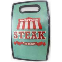 Tábua Para Corte Em Polipropileno 37 X 23 Churrasco Steak Verde
