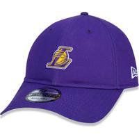 Boné New Era 920 Strapback Los Angeles Lakers Roxo