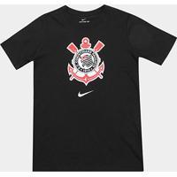 Camiseta Corinthians Infantil Nike Evergreen Crest - Masculino