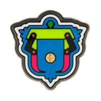 Paula Cademartori Boton Com Logo - Metálico