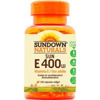 Vitamina Sundown Sun E Sundown Naturals 100 Cápsulas