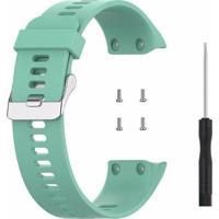 Pulseira De Silicone Tudo Smartwatch Para Garmin Forerunner 35 Verde Turquesa