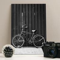 Placa Decorativa - Vintage Black Bike